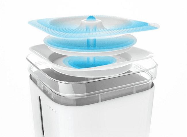 Конструкция дозатора воды для животных PETKIT Smart Water Dispenser 2