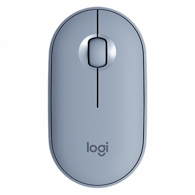 Xiaomi Logitech Cobblestone Wireless Bluetooth Dual Mode Mouse (Blue)